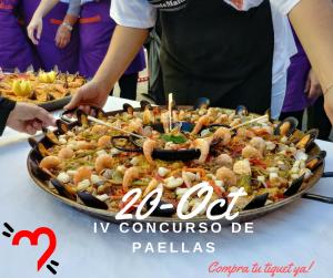 IV edición del concurso de paellas 20 de octurbre 2018